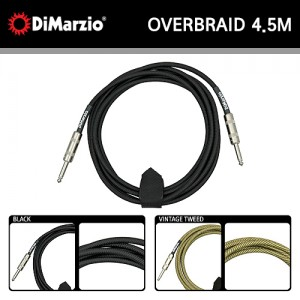 디마지오(DiMarzio) Instrument Overbraid Cable / 15FT(4.5M) / 기타 컬러 케이블