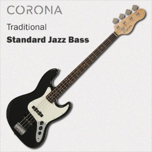 코로나 베이스 기타 Traditional Standard Jazz Black Laurel