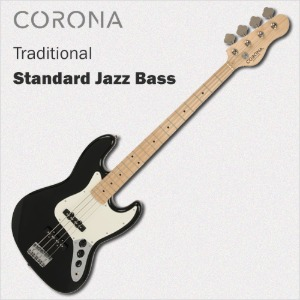 코로나 베이스 기타 Traditional Standard Jazz Black Maple